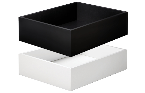 BHK SuperMatte Black and White Drawers