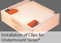 Installation of Clips for Undermount Slides