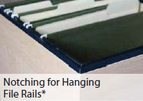 Notching for Hanging File Rails