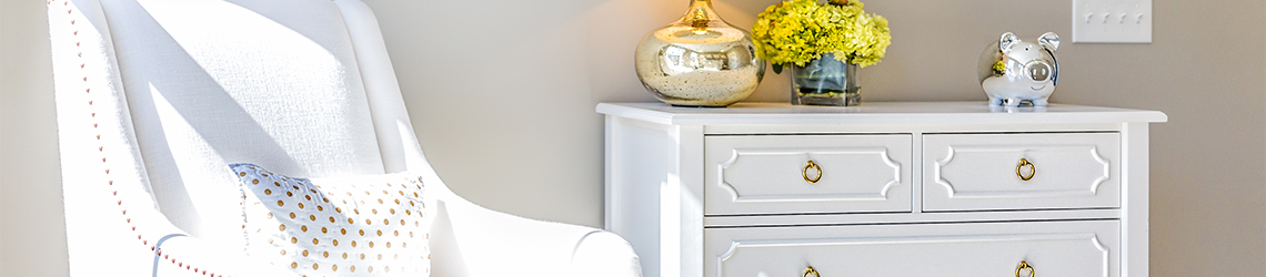 White Solid Wood Dresser Drawers